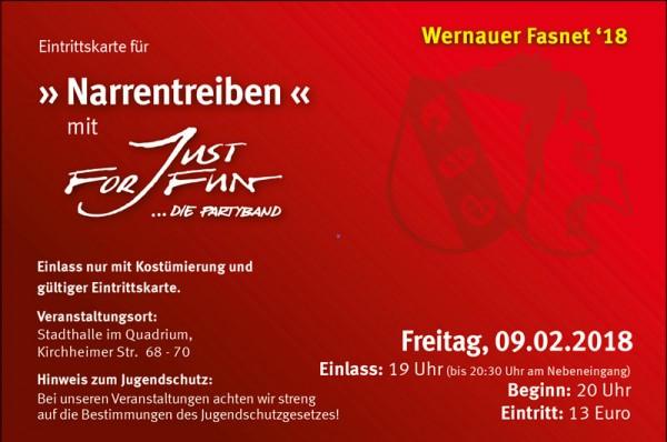 Eintrittskarte für Fr. 09.02.18